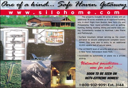 Missile Base for sale, Restored safe haven getaway, this is a missile base for sale. call 1-800-715-1333 x 3144 for more information.
